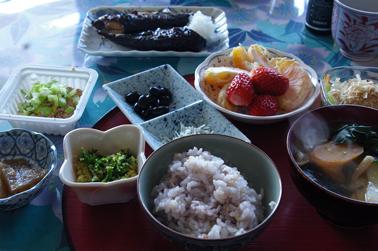 飯田市 実家の朝食 (2010-03-27)
