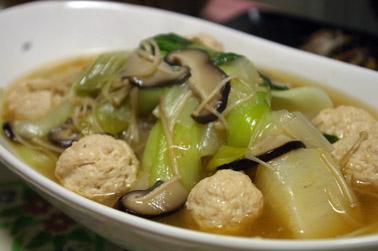 かぶと鶏だんごのとろみスープ (2010-12-15)