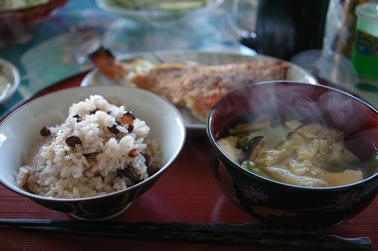 鯛で朝ご飯 (2011-01-03)