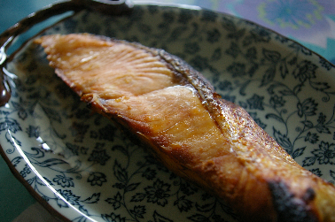 フィッシュロースターで鮭 (2011-06-09)