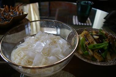 そうめんと野菜炒め (2009-07-20)